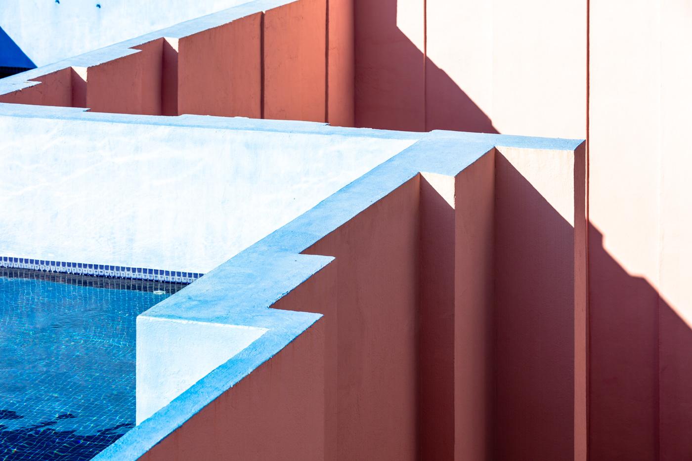 architecture bofill building color concrete contemporary design Muralla Roja red Urban
