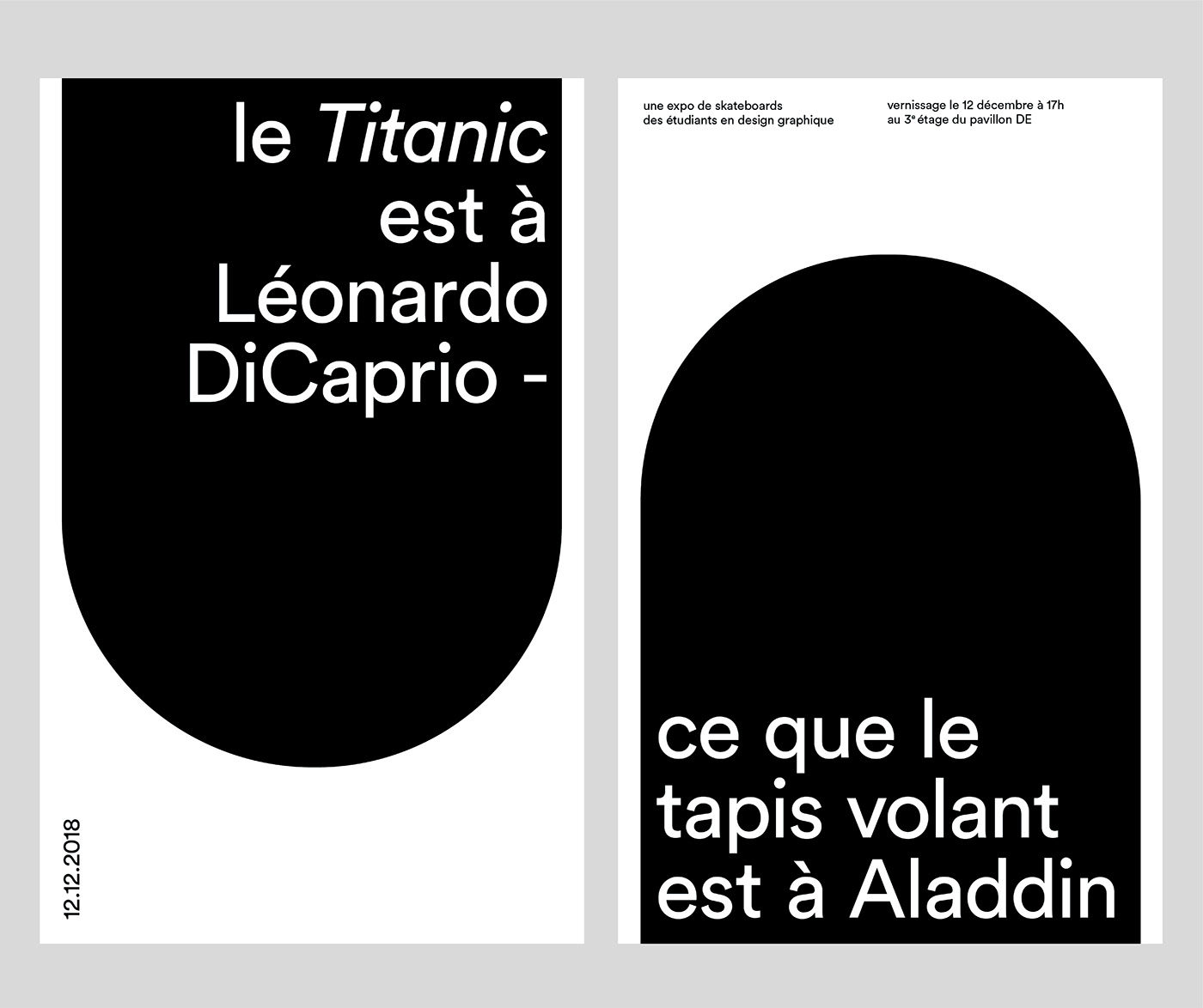 affiche design Exhibition  graphic poster print typography   UQAM