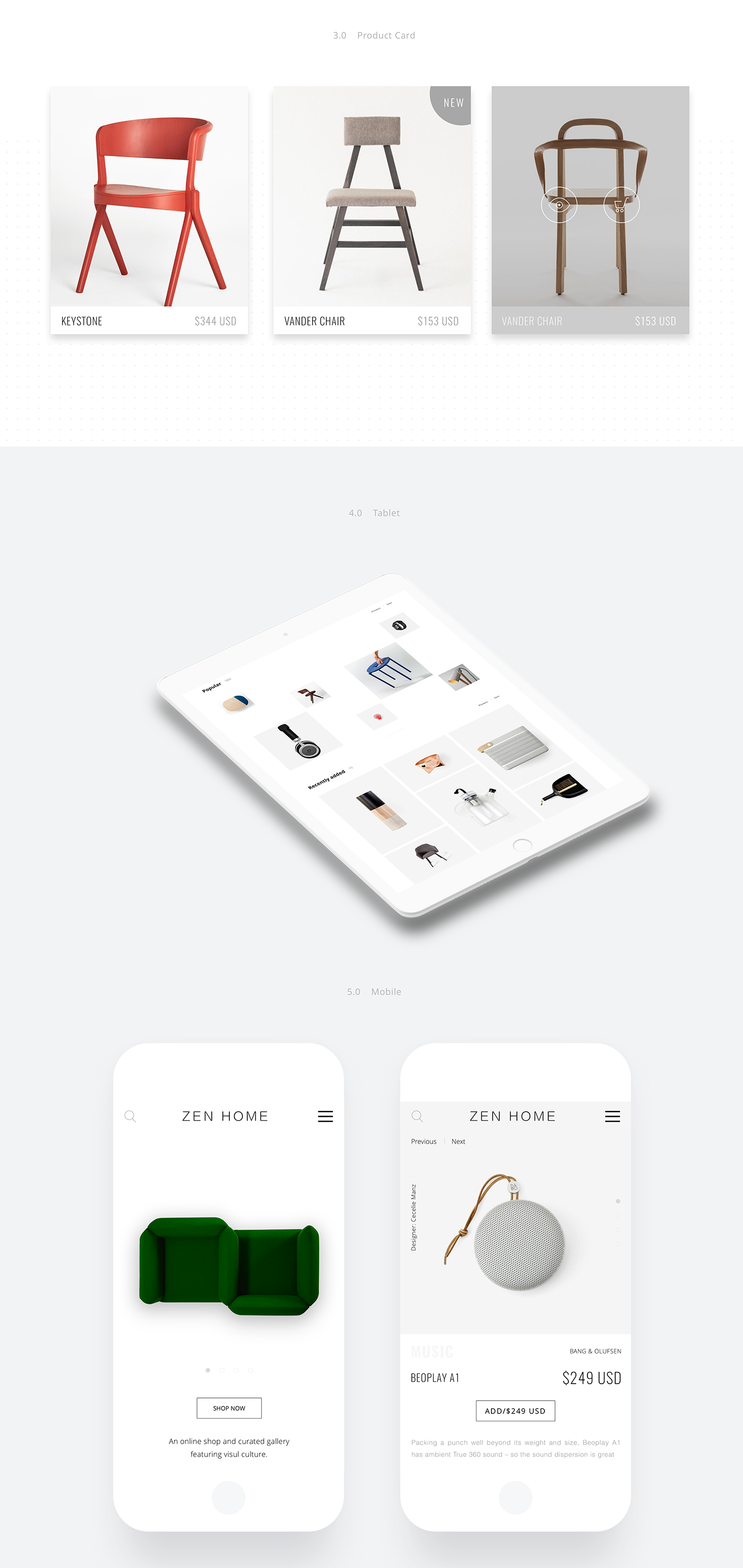 minimal Interior Webdesign furniture Responsive ux UI Interface Product Page home page