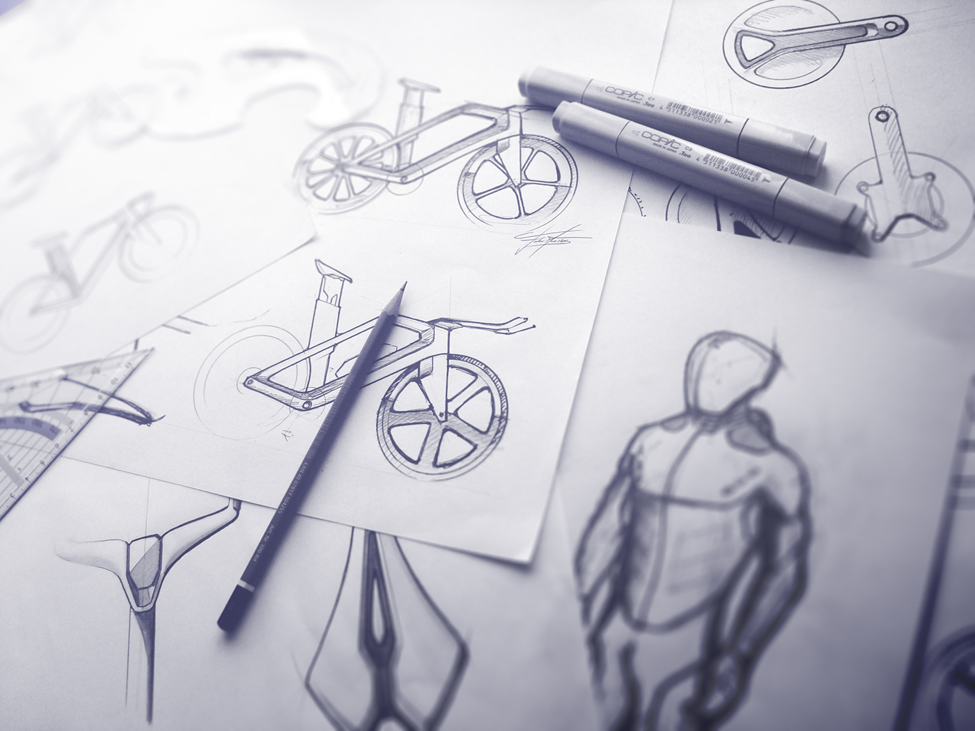 Bicycle Bike futuristic connected Trek specialized b'twin revolt portuguese design Cycling speed Cannondale aero bicicleta