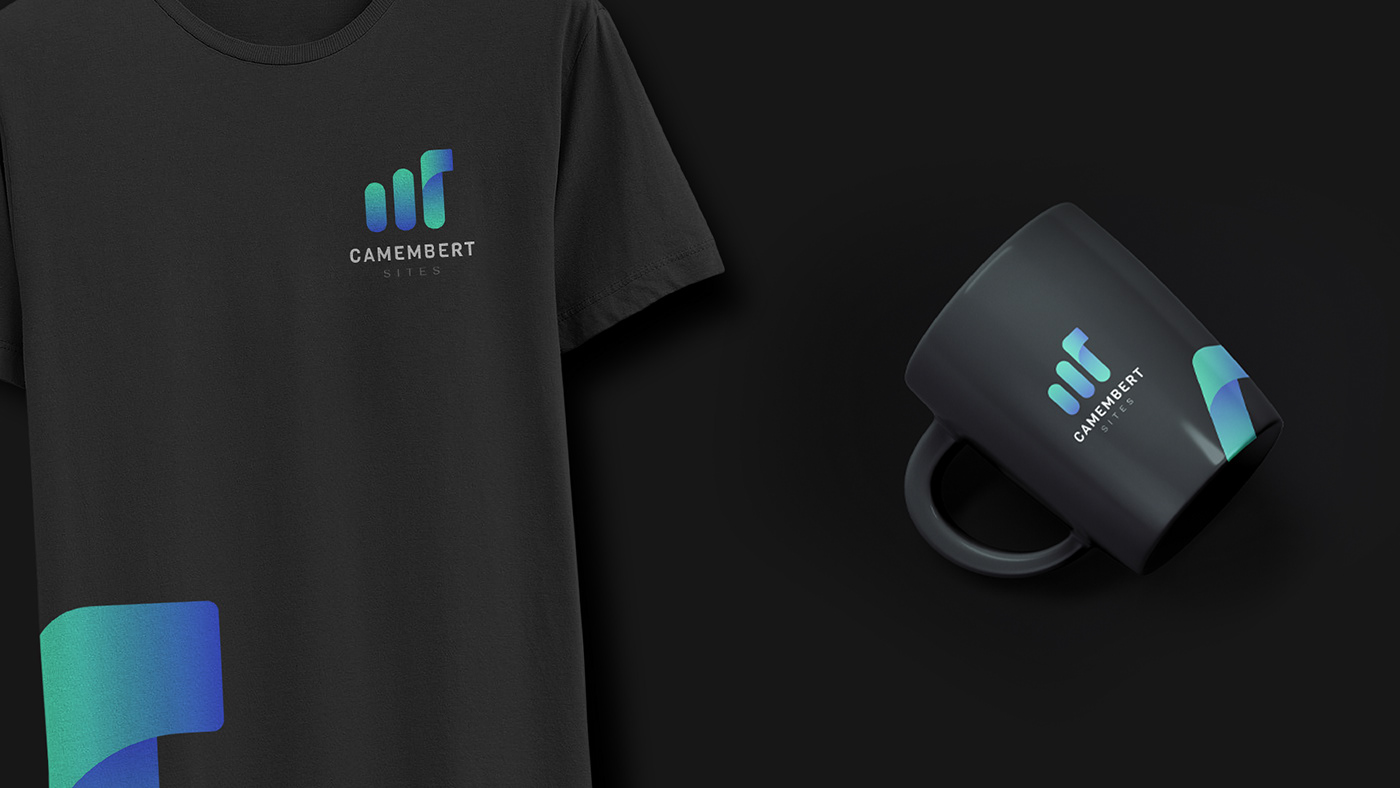 Shirt and mug mockup in dark background