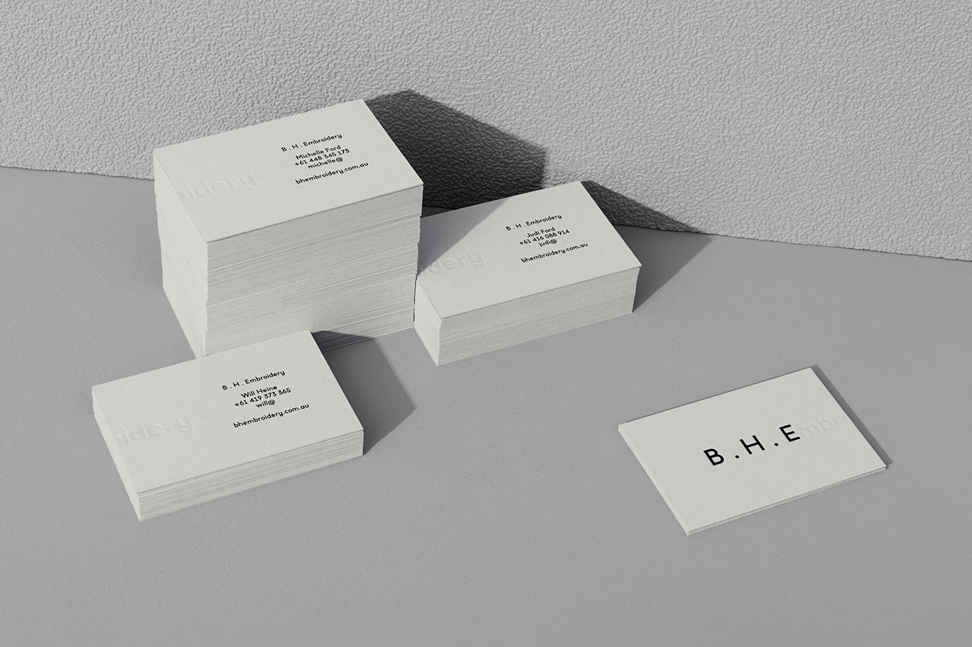 Stationery letterpress colorplan black and white grey business card letterhead With Compliments Slip emboss