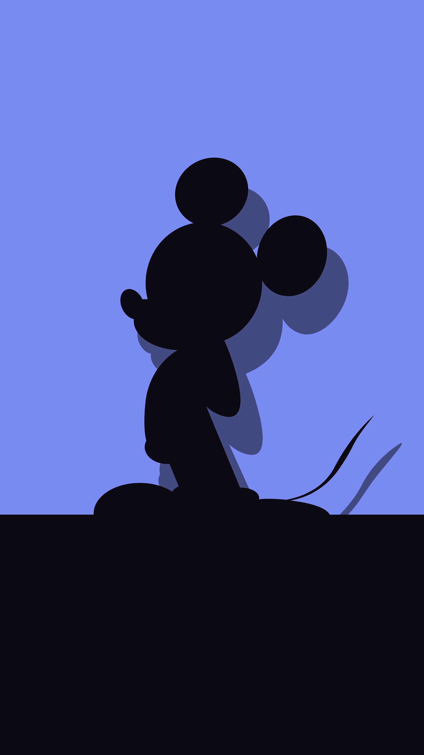 I couldn't find any good Mickey Mouse wallpapers online, so I decided to make my own. Download links below!
