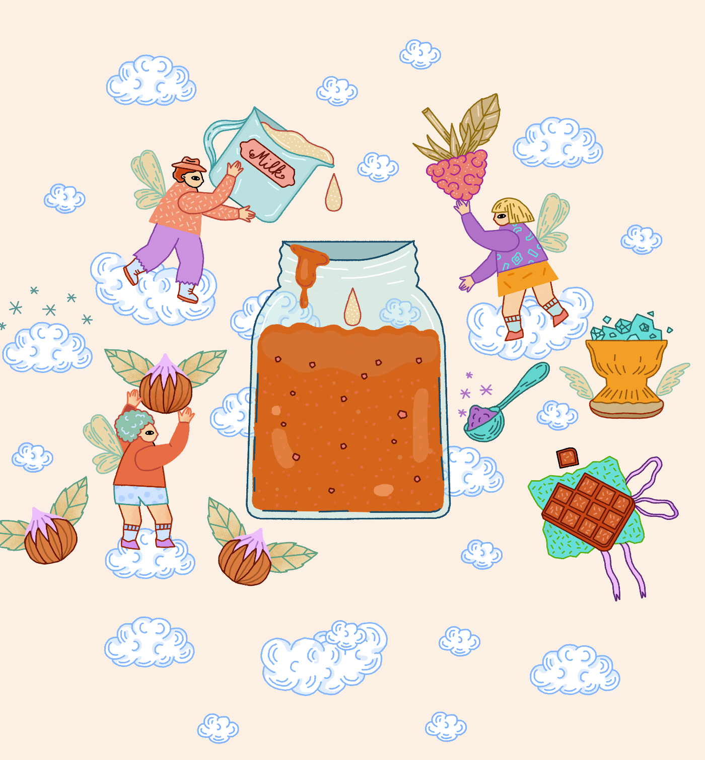 caramel eco illustration  food illustration Food Packaging heaven