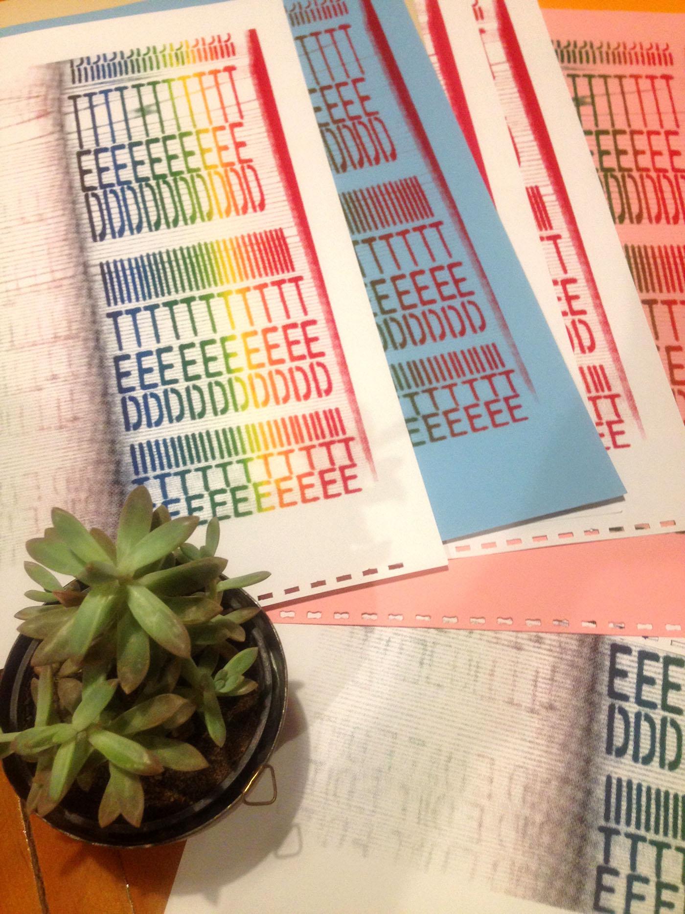 edit design halftone analog letraset moleskine monochrome poster