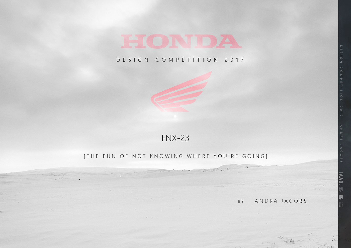 Honda Design Contest 2017 on Behance