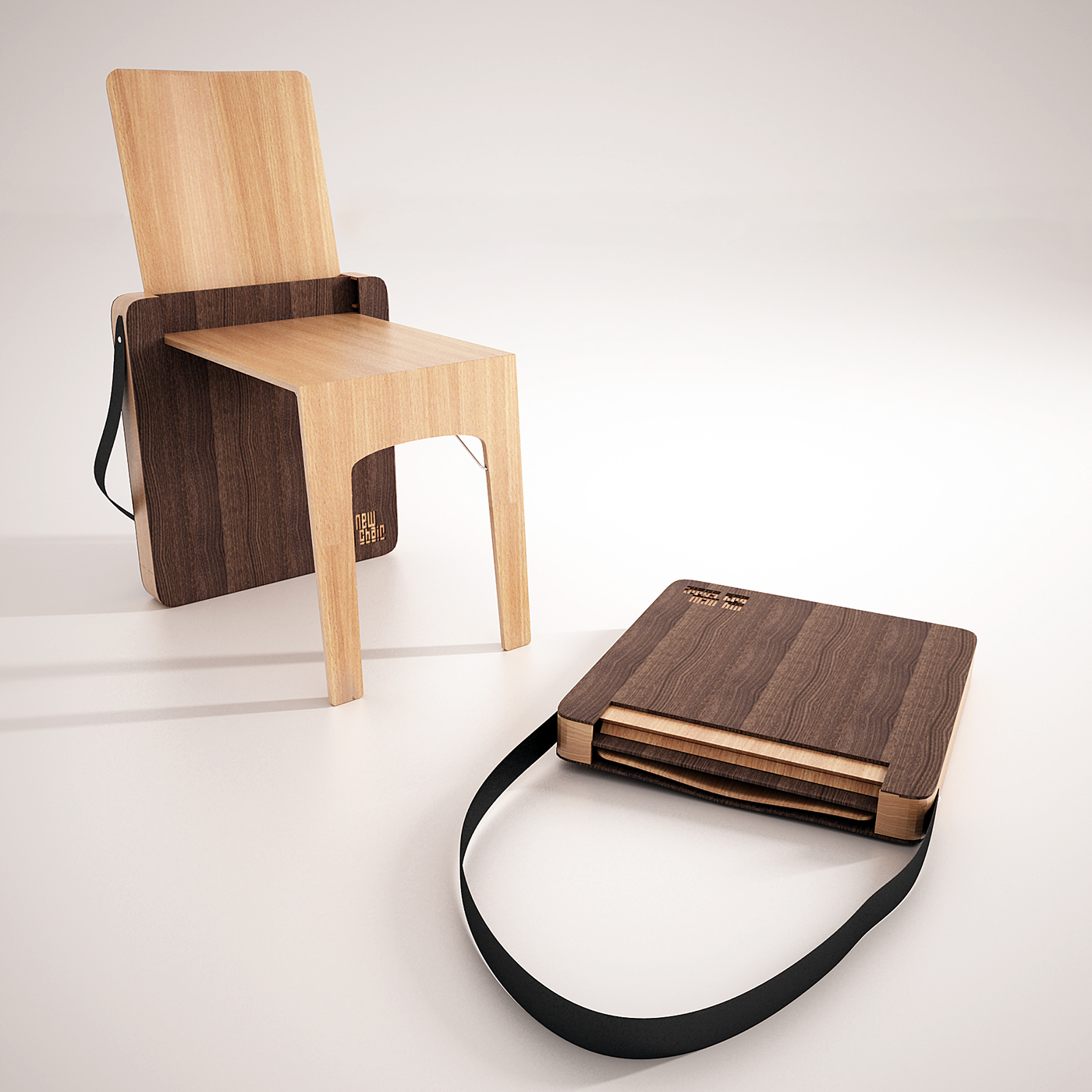 Bag Chair folding chair on Behance