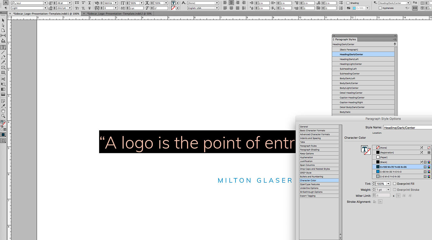 logo presentation template on behance