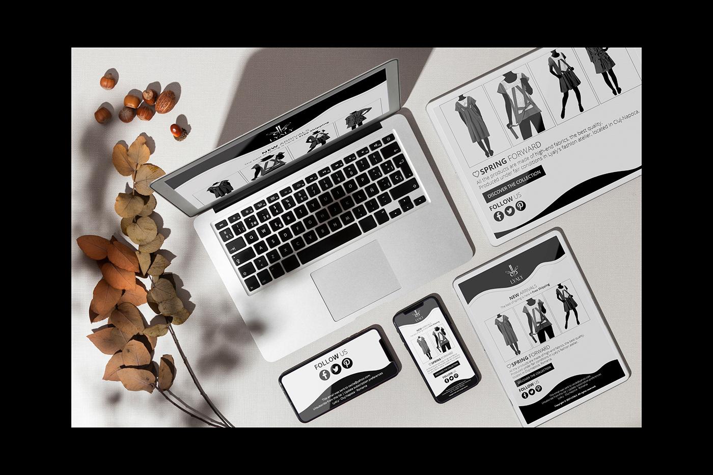 Adobe XD Email Design email newsletter Email Templates Fashion  graphic design  marketing   newsletter ui design Web Design