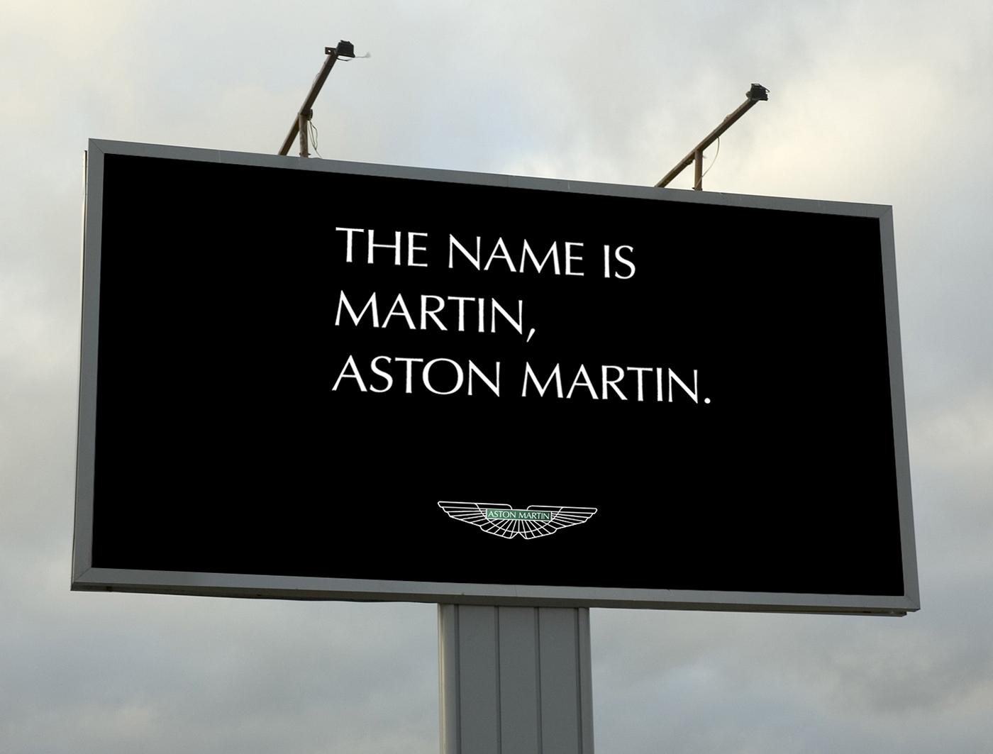 aston martin billboard ad on behance