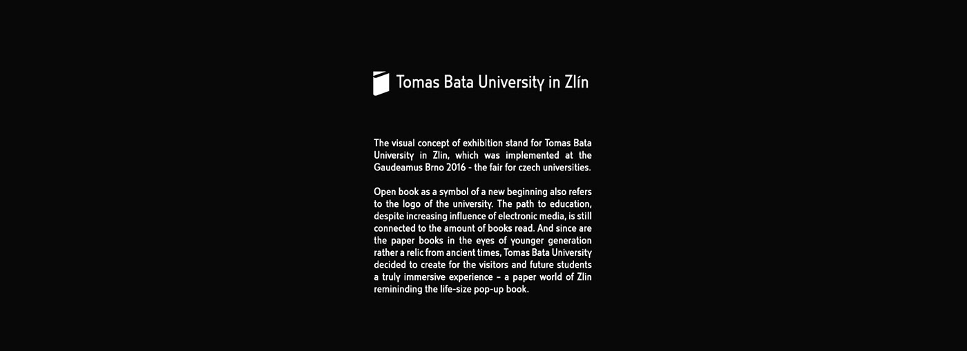 Exhibition  Stand pop-up book University student Fair exposition zlin