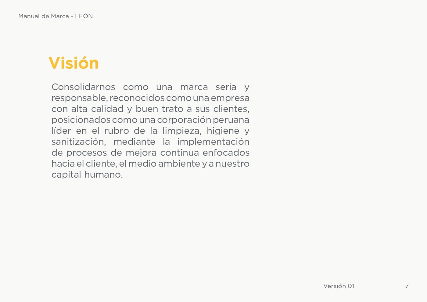 brandbook branding  design editorial guideline Leon marca