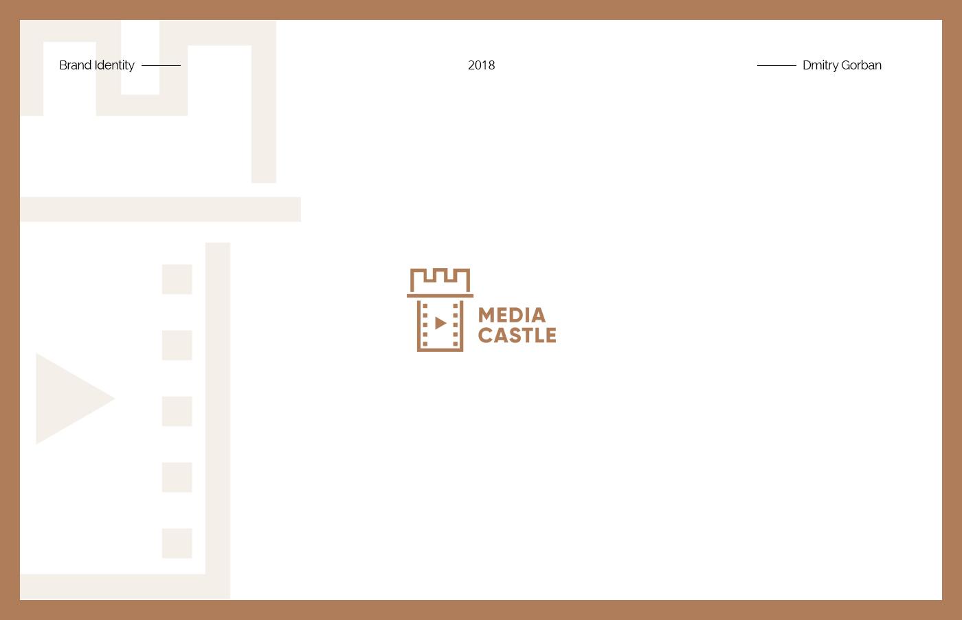 logo brand identity Logo Design graphic design  logos branding  media Castle symbol