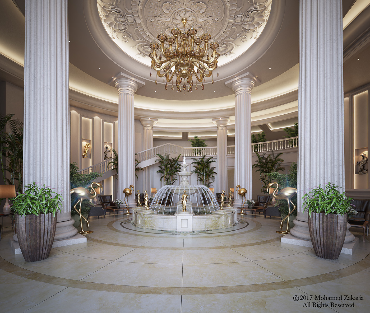 Hotel entrance hall on behance for Hotel entrance decor