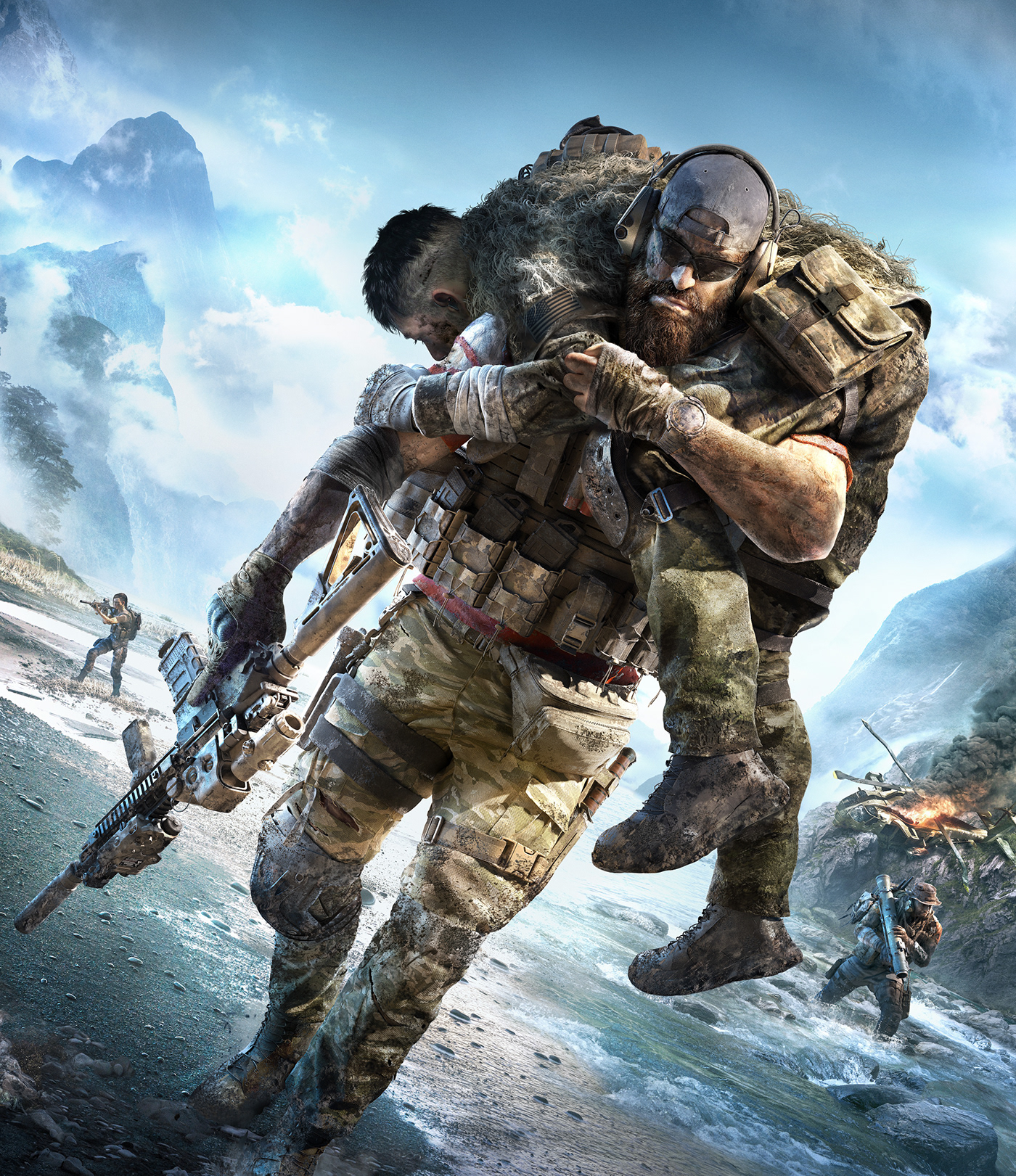 Ghost Recon Breakpoint video game soldier survival Matte Painting game Packaging communication tactical