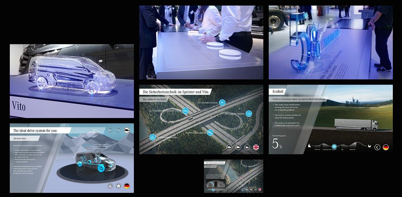 Adobe Portfolio IAA Exhibition  interactive exhibit trucks future mercedes-benz concept
