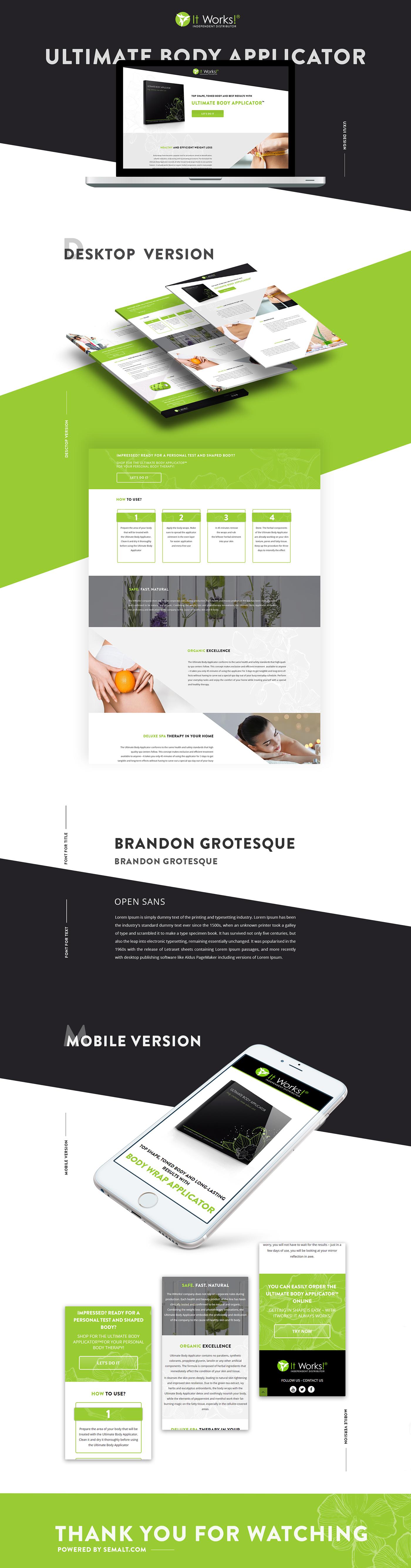 design Webdesign portfolio typography   site photoshop Web development SEO landing