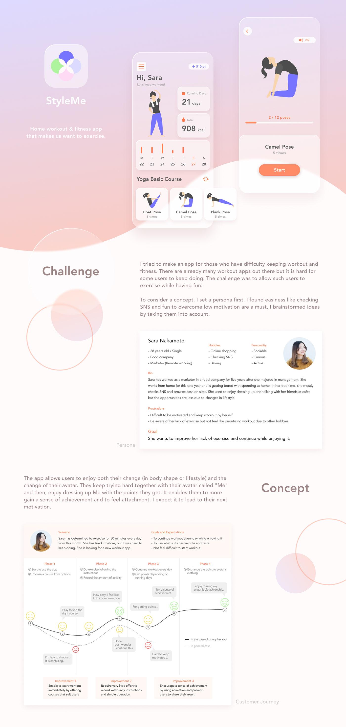 app fitness glassmorphic glassmorphism neumorphism UI ux workout Yoga glass