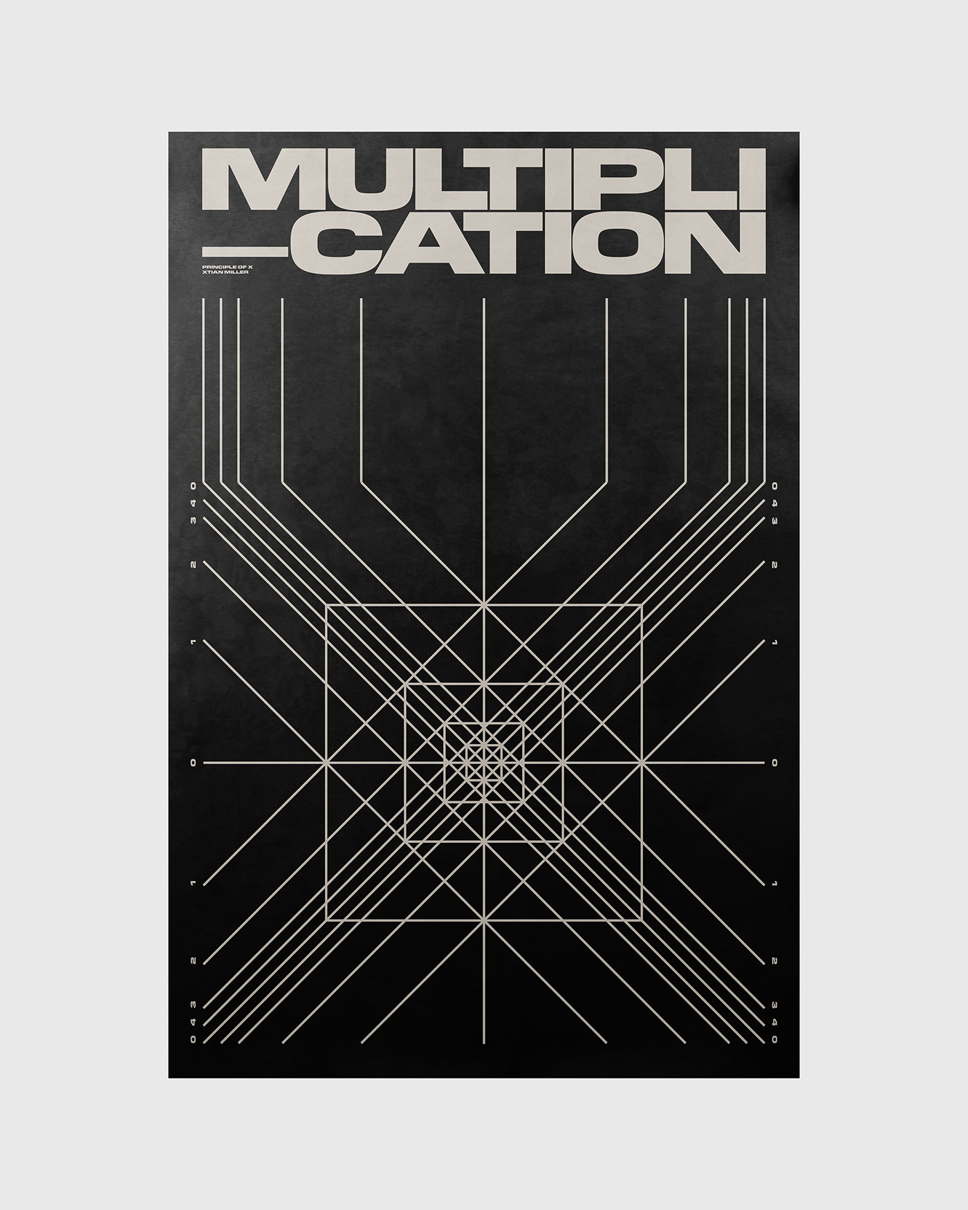 Multiplication poster by Xtian Miller