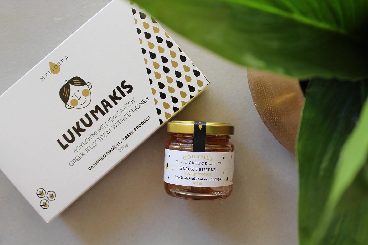 sweet ILLUSTRATION  honey branding  sketch Greece Trikala. graphic design Packaging Melicera Trikala