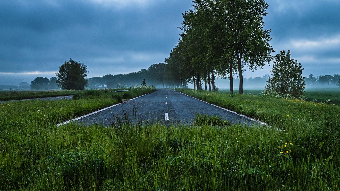 golden hour Landscape roads scenery