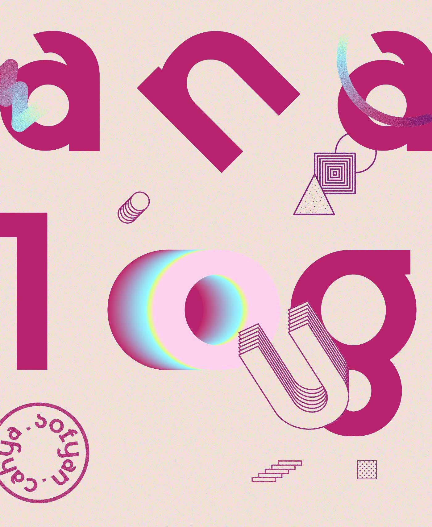 new dawn free font Typeface pop Memphis Display Logotype