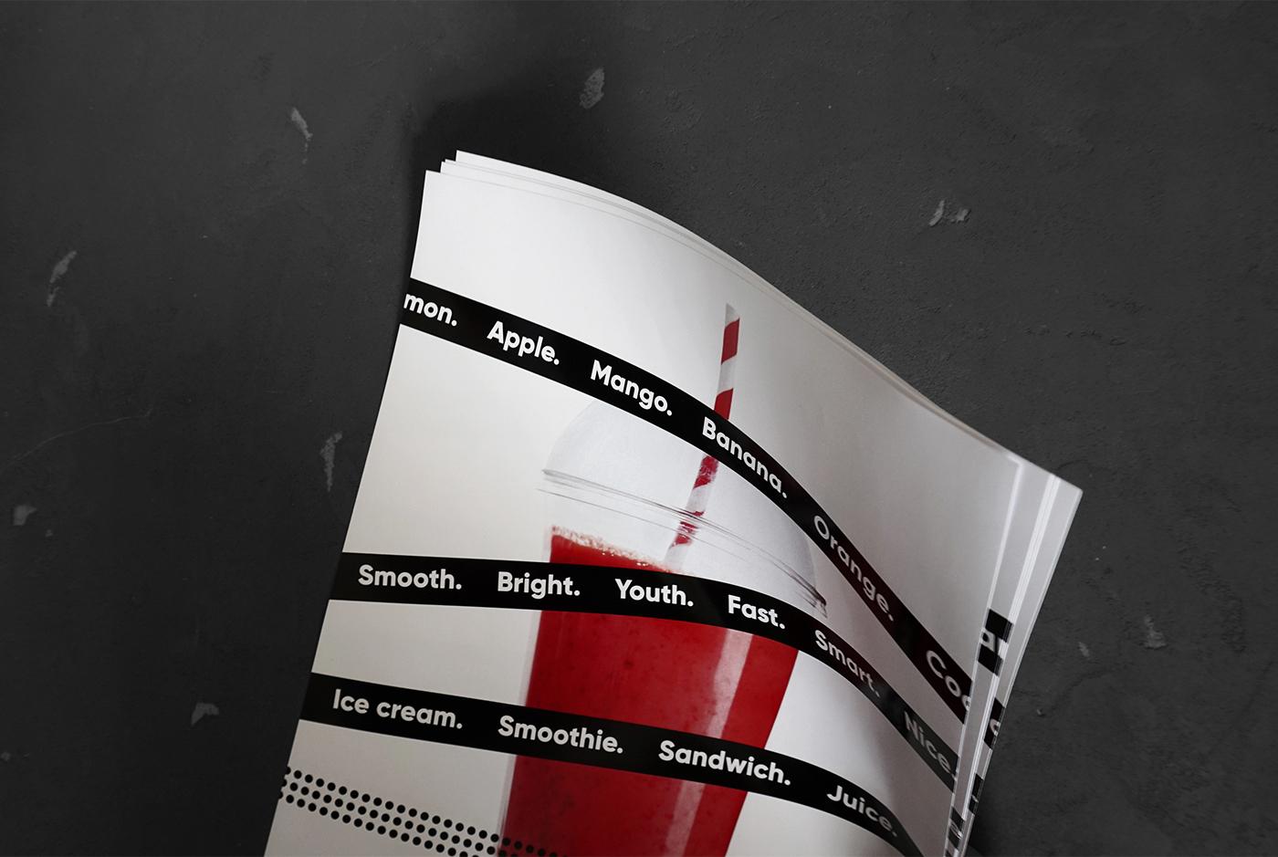 identity branding  helthy bar stripe black smoothie juice TheGoort commercial design