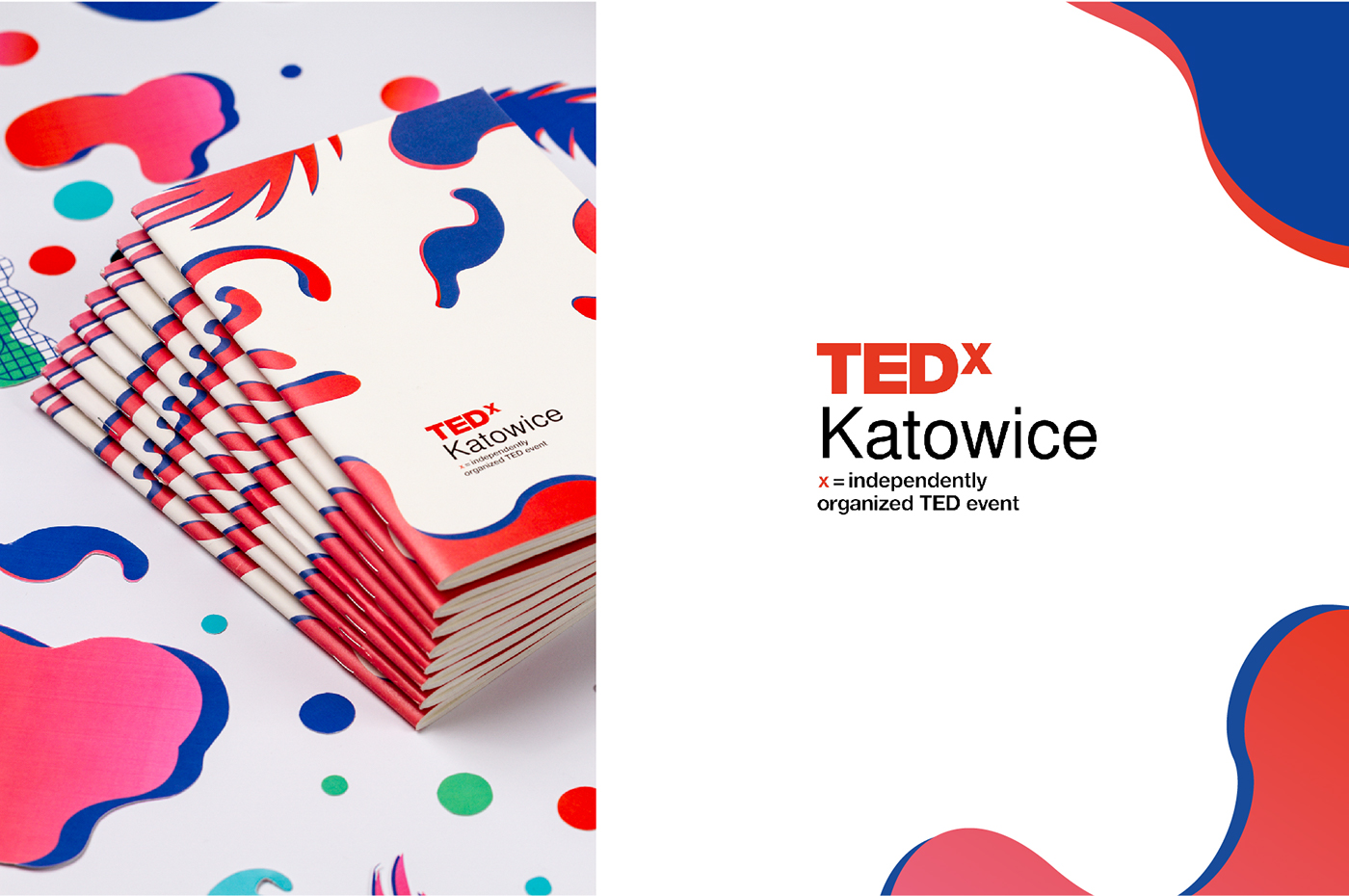 TEDx katowice TED scenography plants conference paper waste cubic kato package