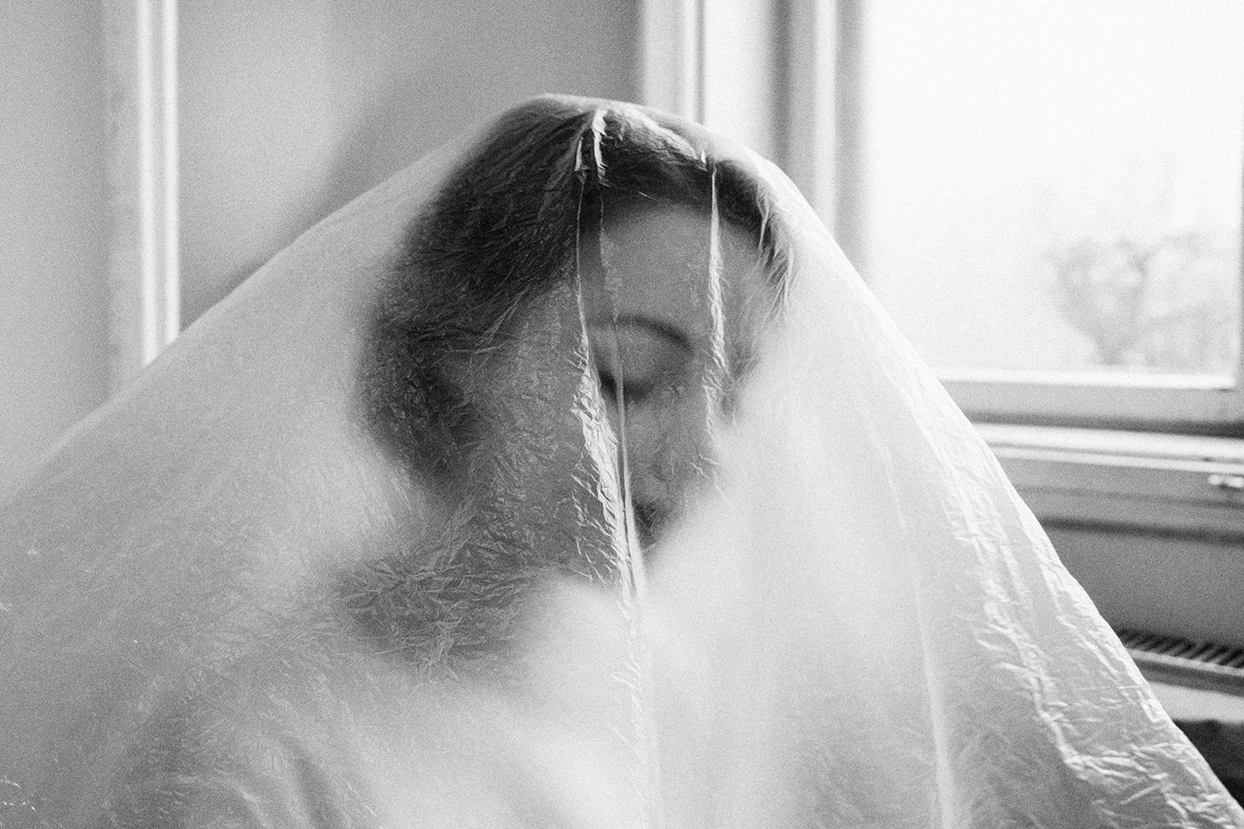 Photography  art photojournalism  fujifilm wedding plastic bride bw