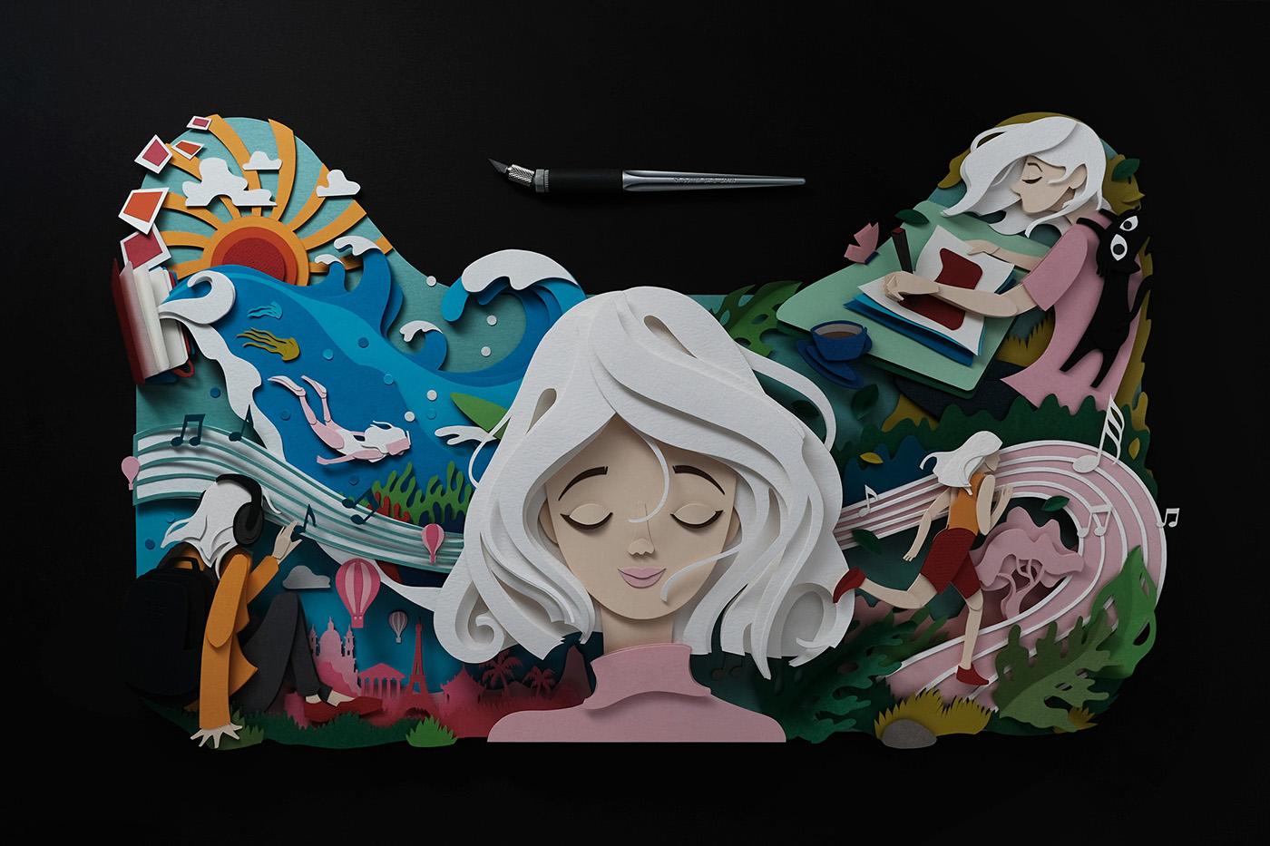 有設計感的27個立體紙雕作品欣賞