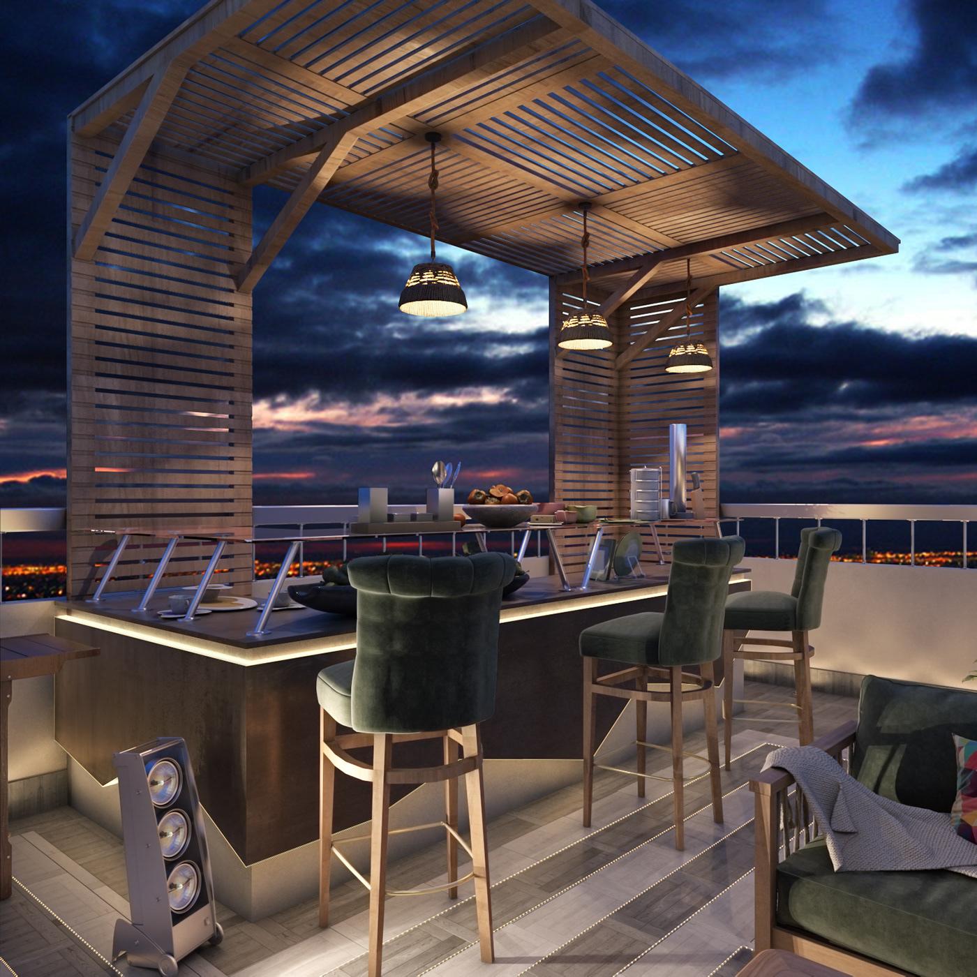 Interior design visualization vray photoshop architecture 3dsmax Motaz mostafa graphics