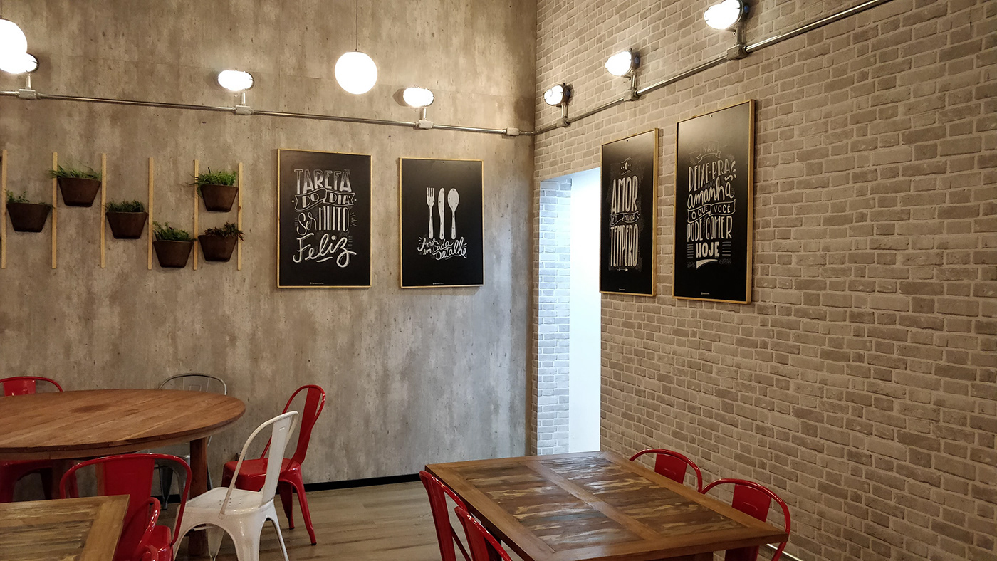 lettering Decoração letter wall wall art wall gourmet typography   Mural