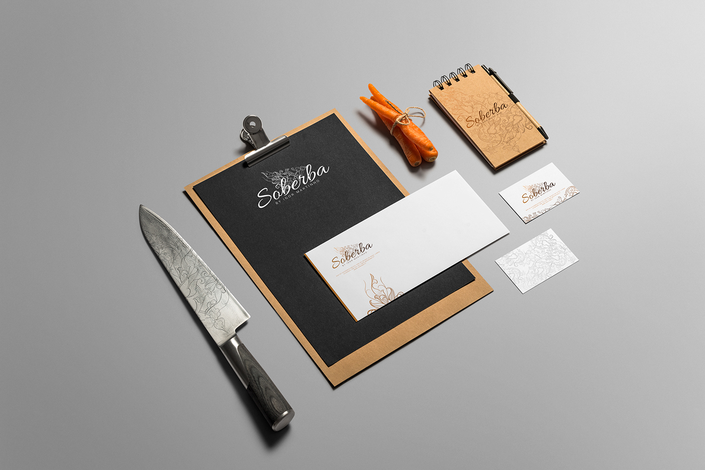 soberba restaurant Igor Martinho chef branding  Stationery