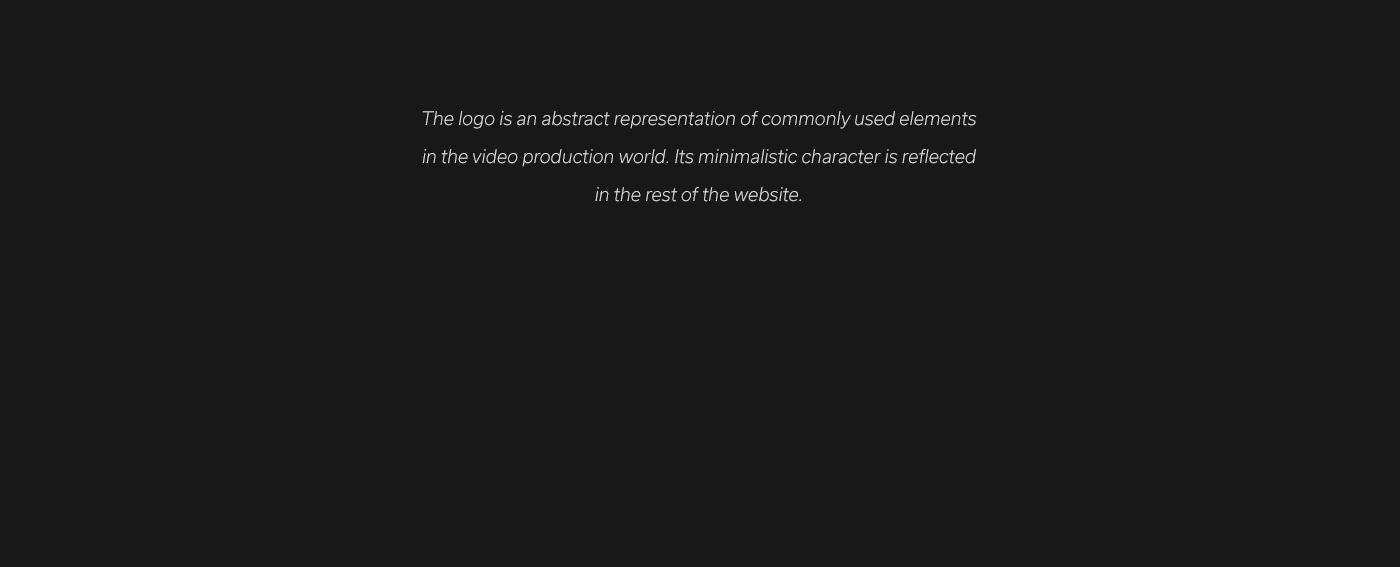 video Film   Production Experience video agency dark fullscreen minimal portfolio Website