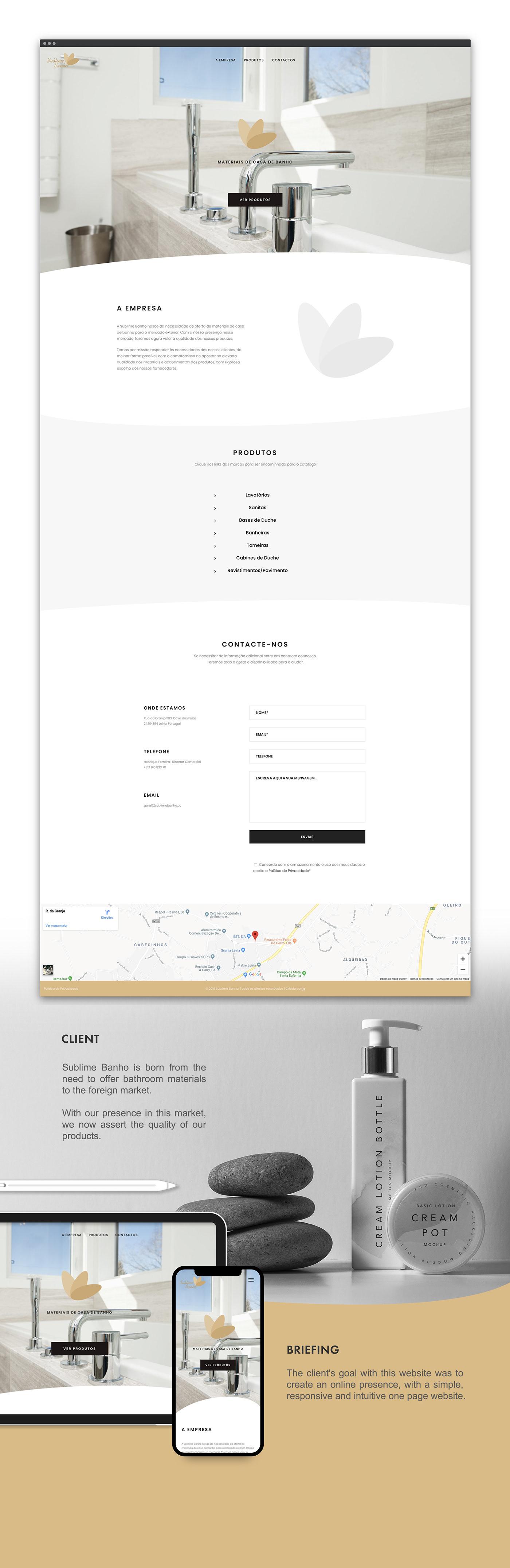 wordpress Web Design  development One Page cms Frontend Design bathroom materials