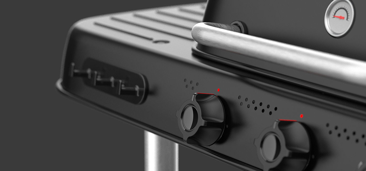 3d modeling barbecue BBQ industrial design  rendering sketches