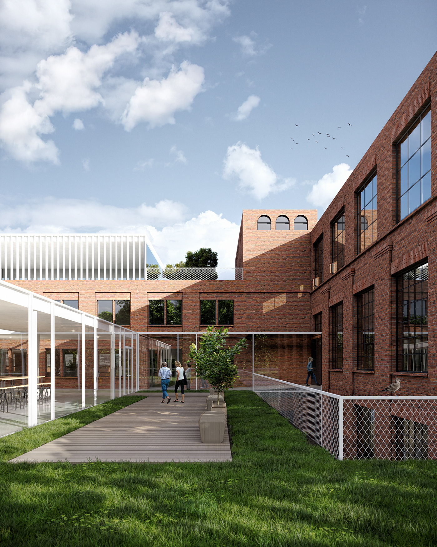 adaptive reuse architecture cultural culture exhibition space Gdansk Gradutaion project masters degree revitalization school of arts