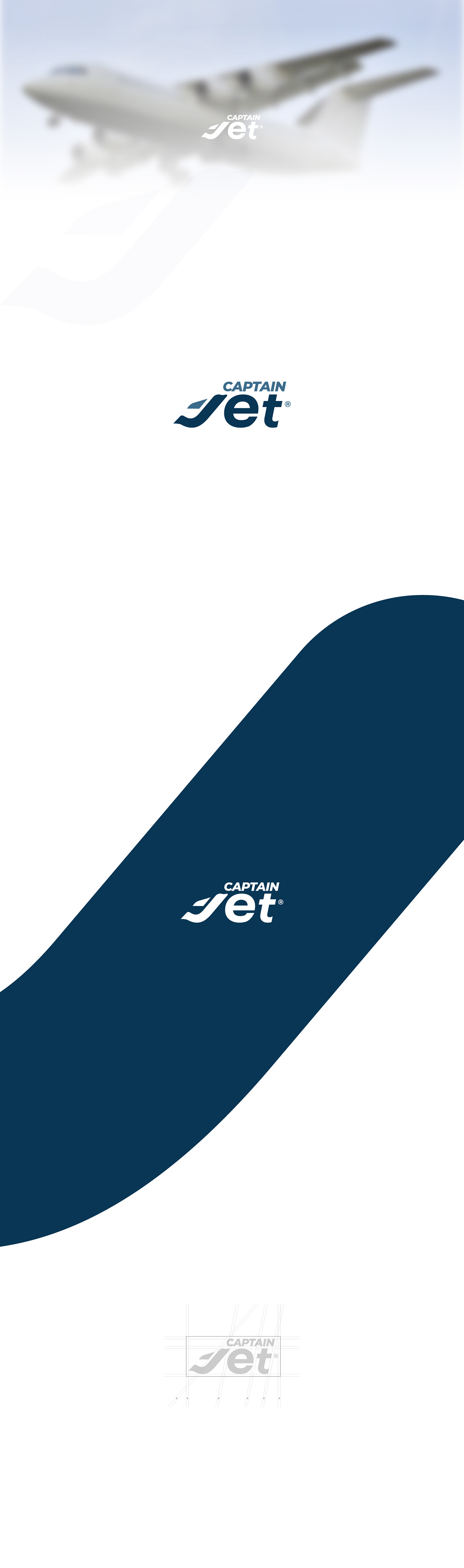 adobe illustrator captain Jet Logo Design minimal modern professional typography   vector vector art