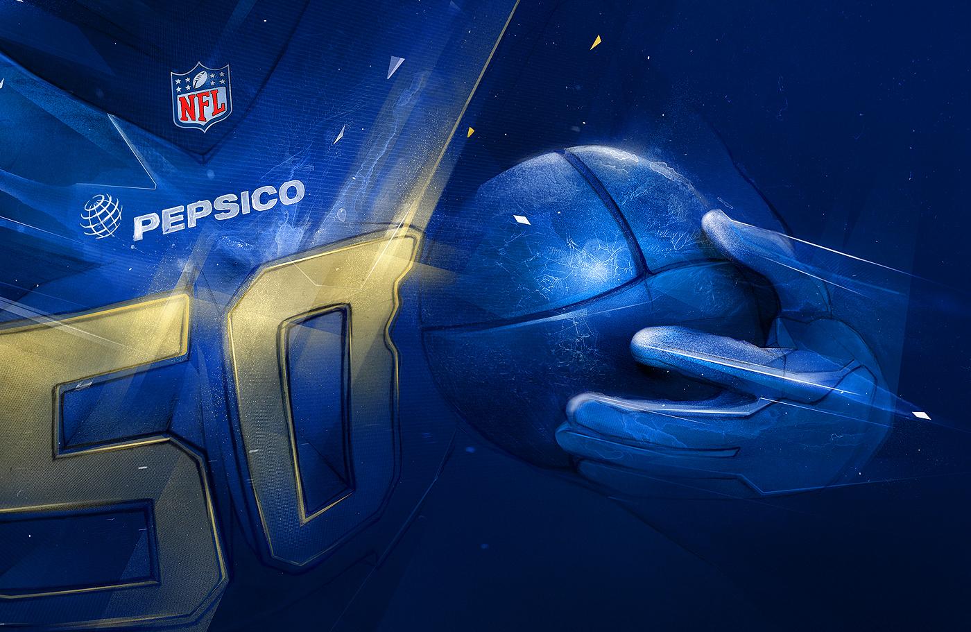 pepsi pepsico pepcity superbowl nfl football wacom sport Event adobe
