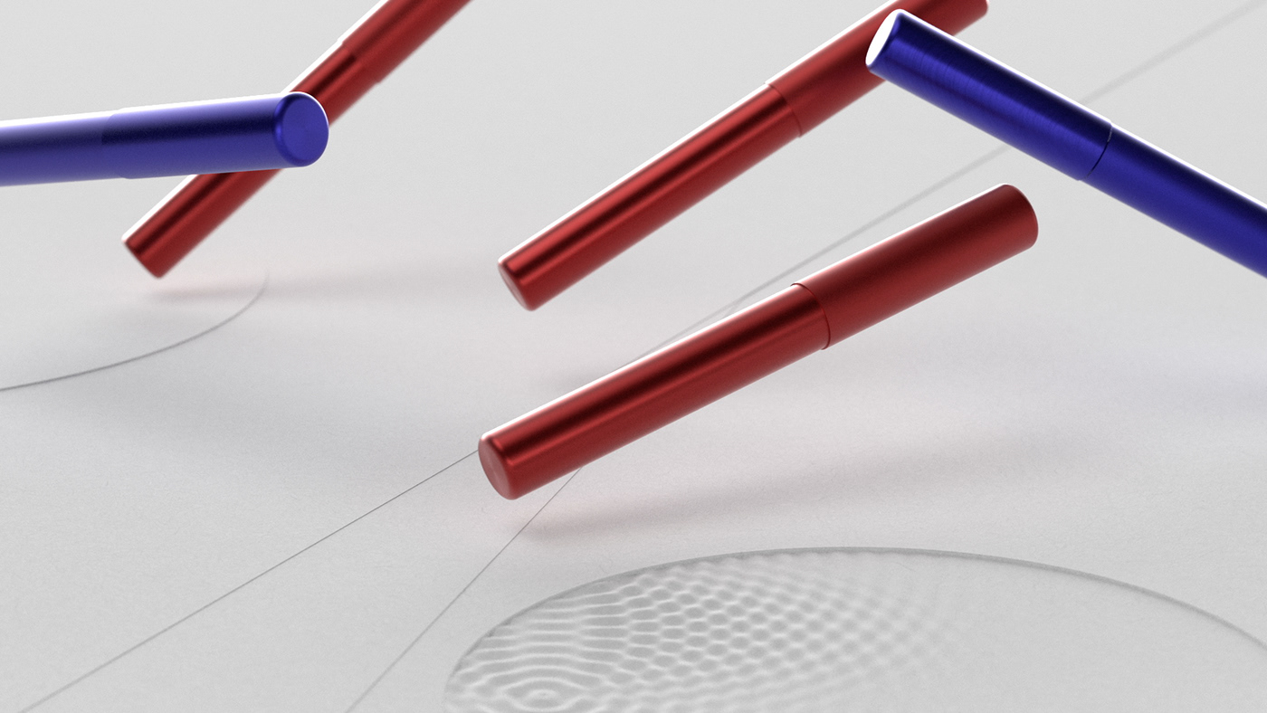 design lamy minimalistic abstract blue red Aion