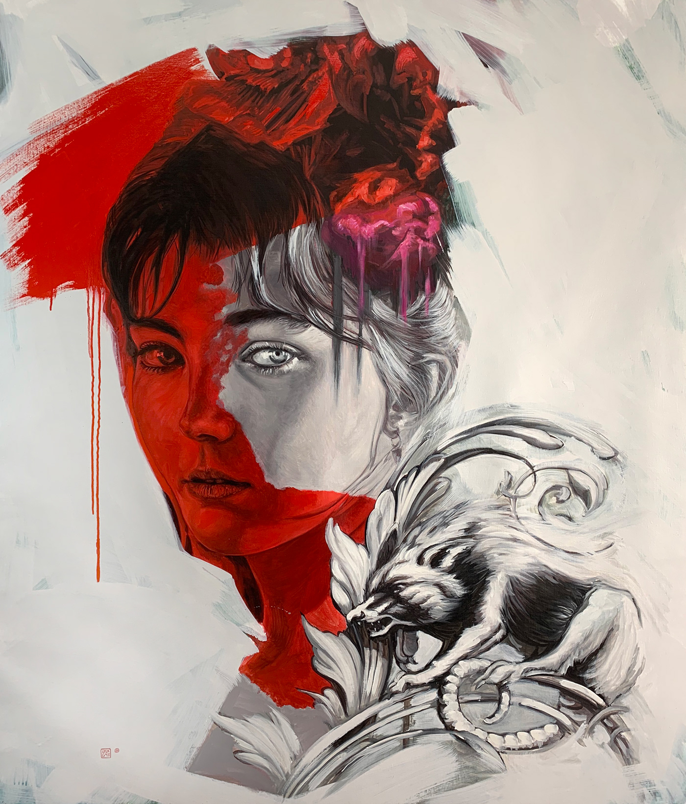 Bellas artes fine art oil on canvas pintura streetart