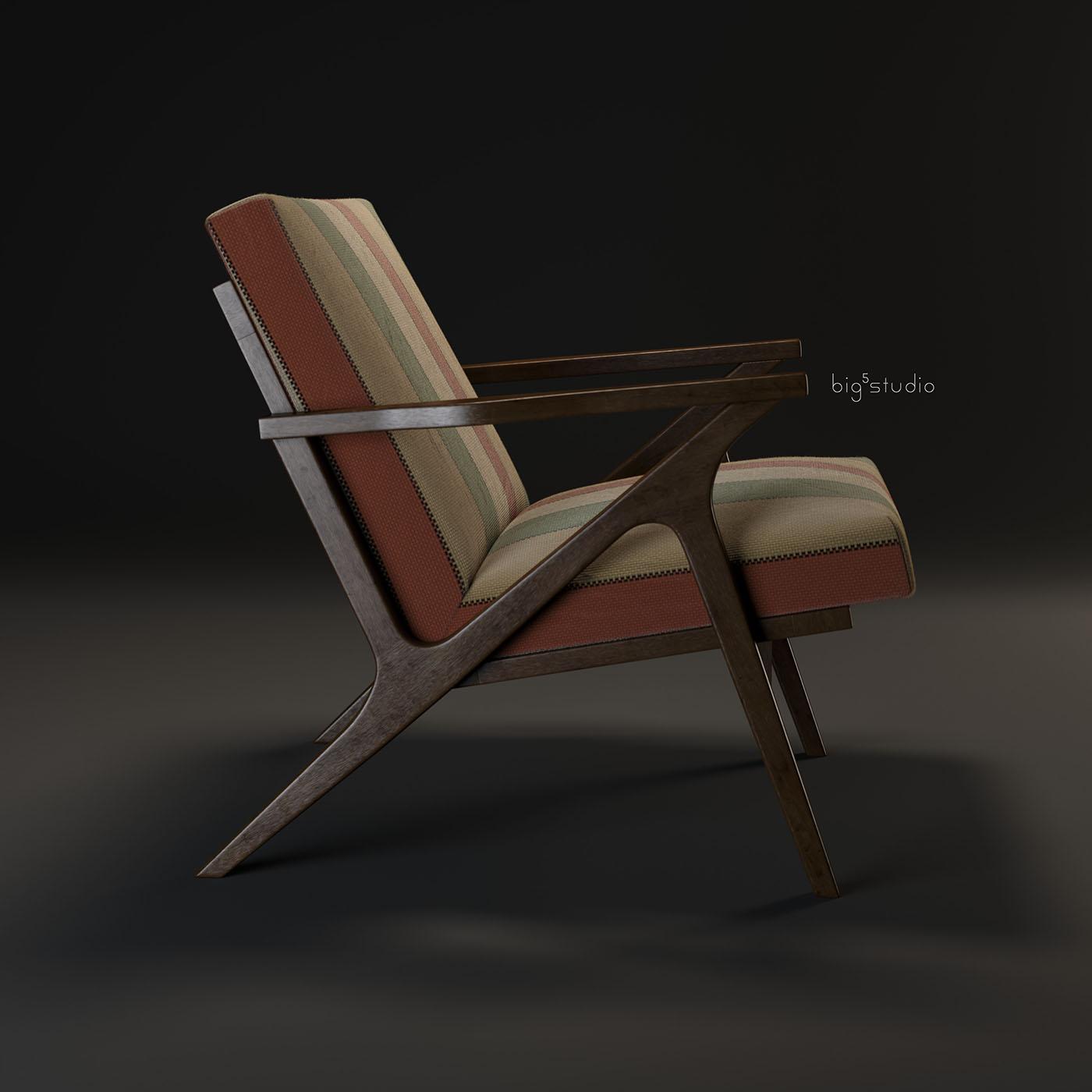 Cavett Wood Frame Chair On Behance