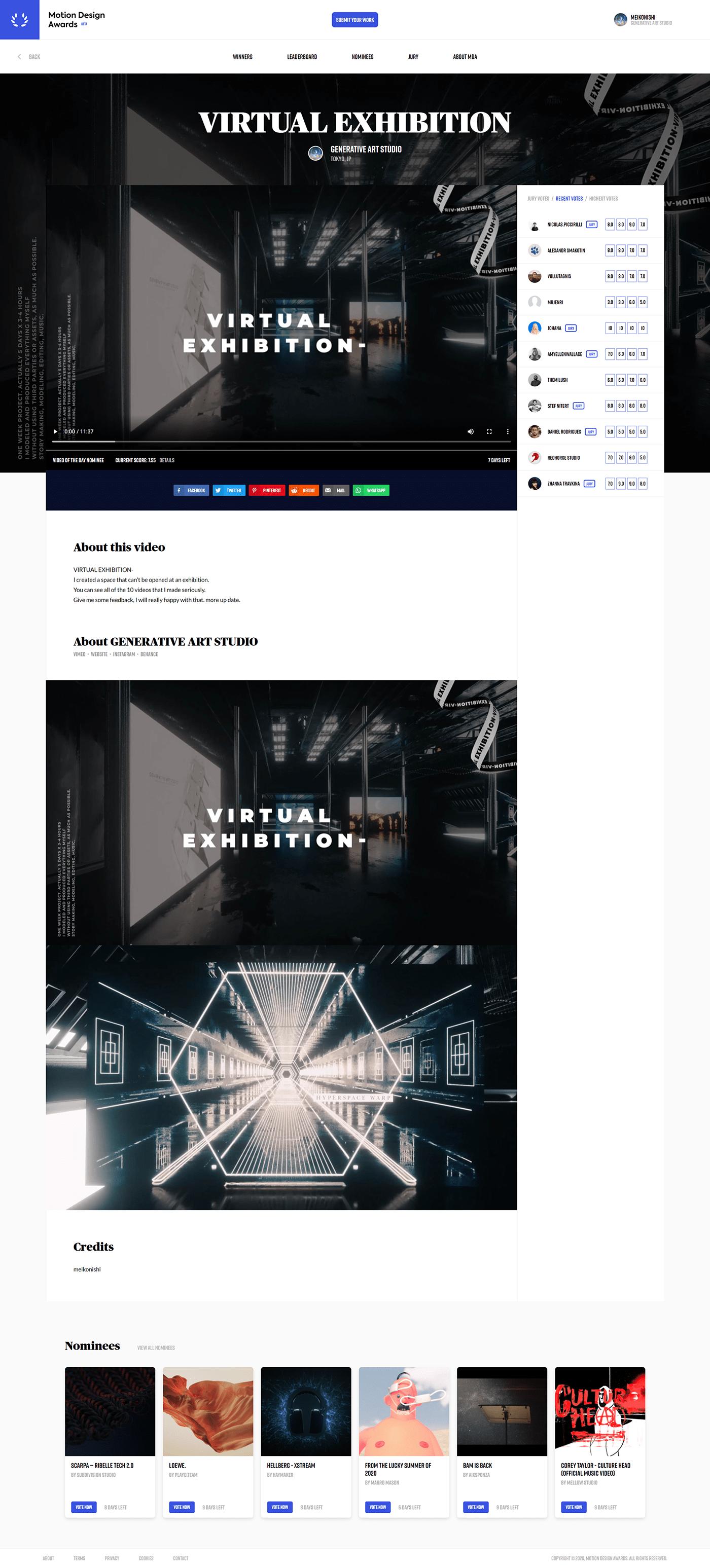 art CG Exhibition  graphic motiongraphics virtual virtual exhibition