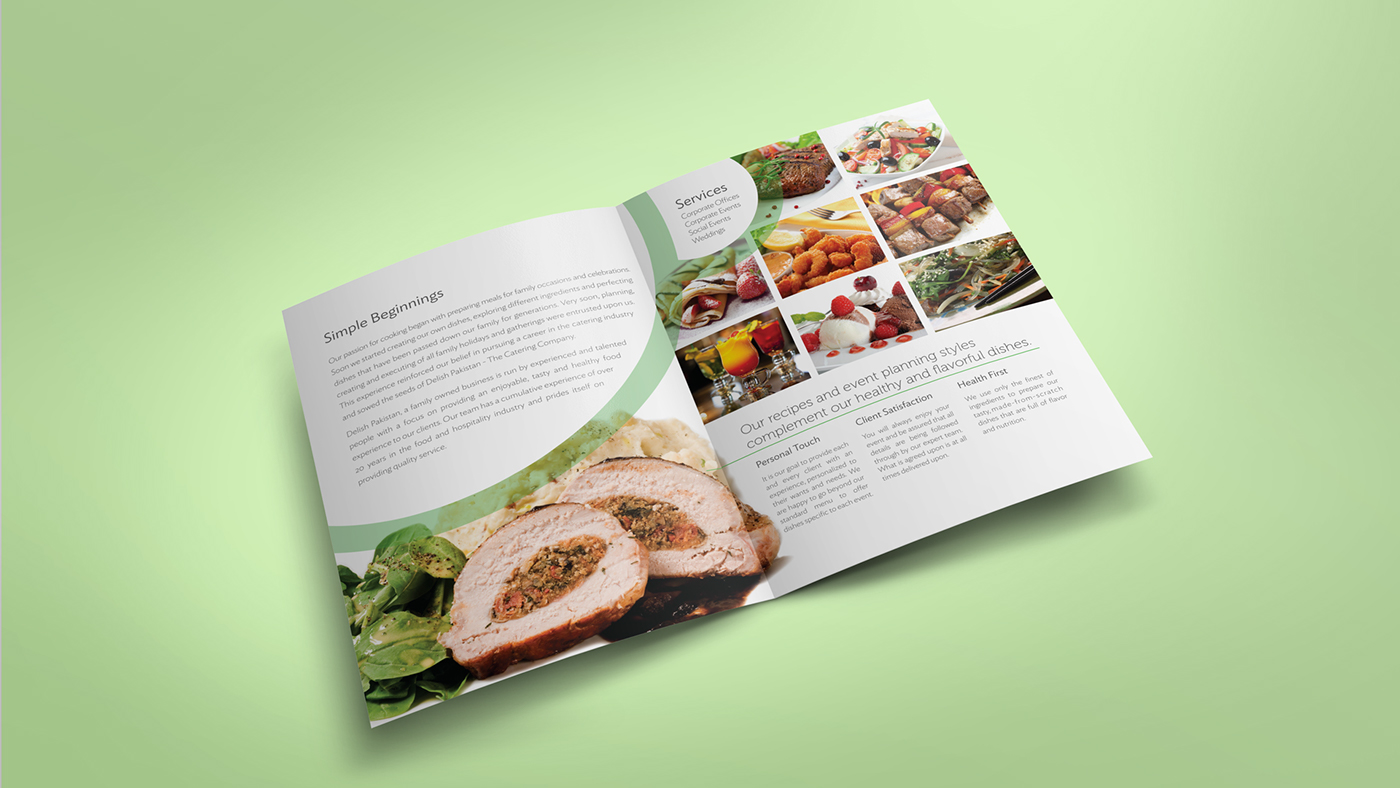 delish pakistan menu flyer design on behance