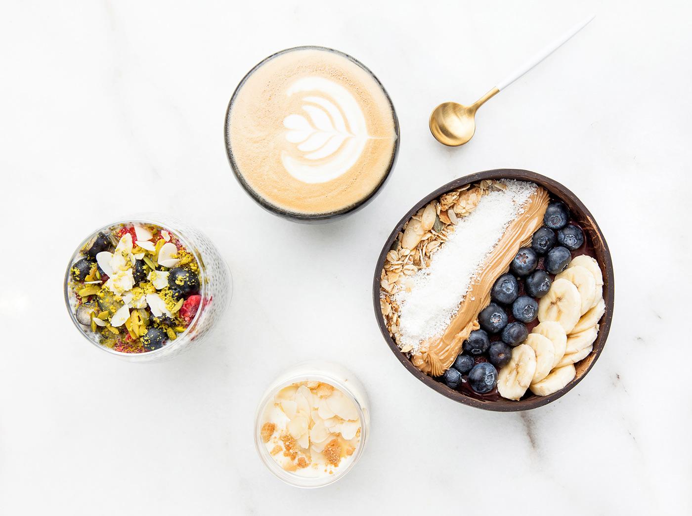 food photography minimalistic flatlay restaurant Coffee coffee shop cafe