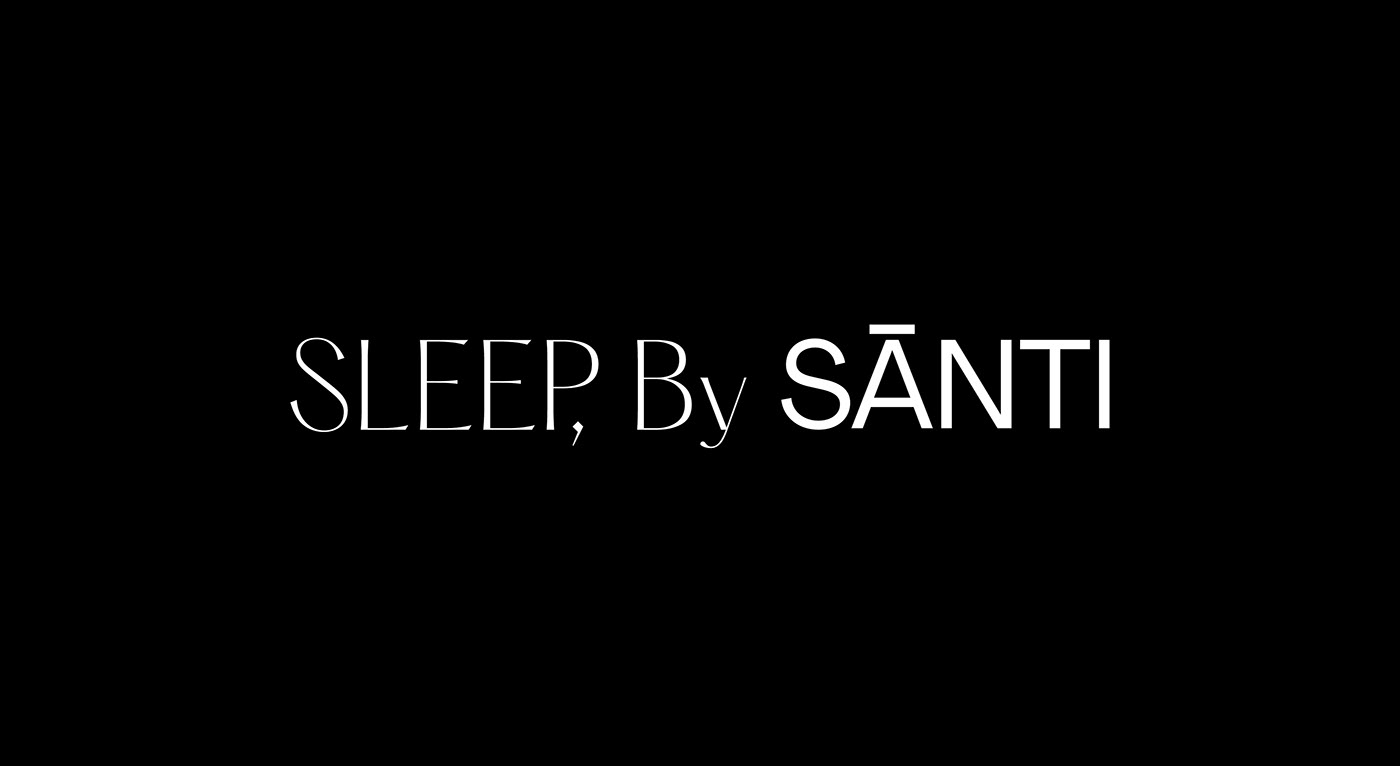 bedding branding  ensemble luxury manchester naming Packaging Santi sleep typography