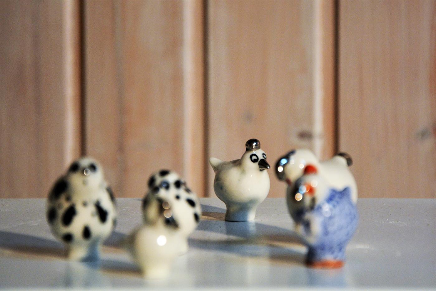 art birds ceramics  contemporaryceramics porcellain stoneware
