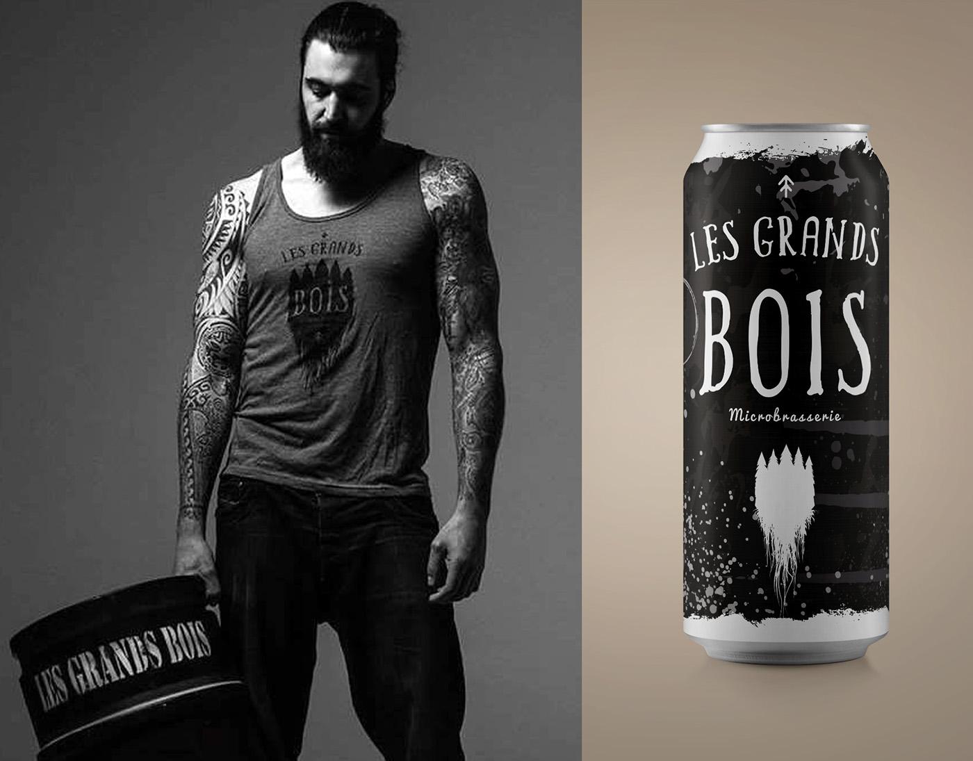 branding  Quebec drink beer Montreal design ILLUSTRATION  bio Portneuf graphic design