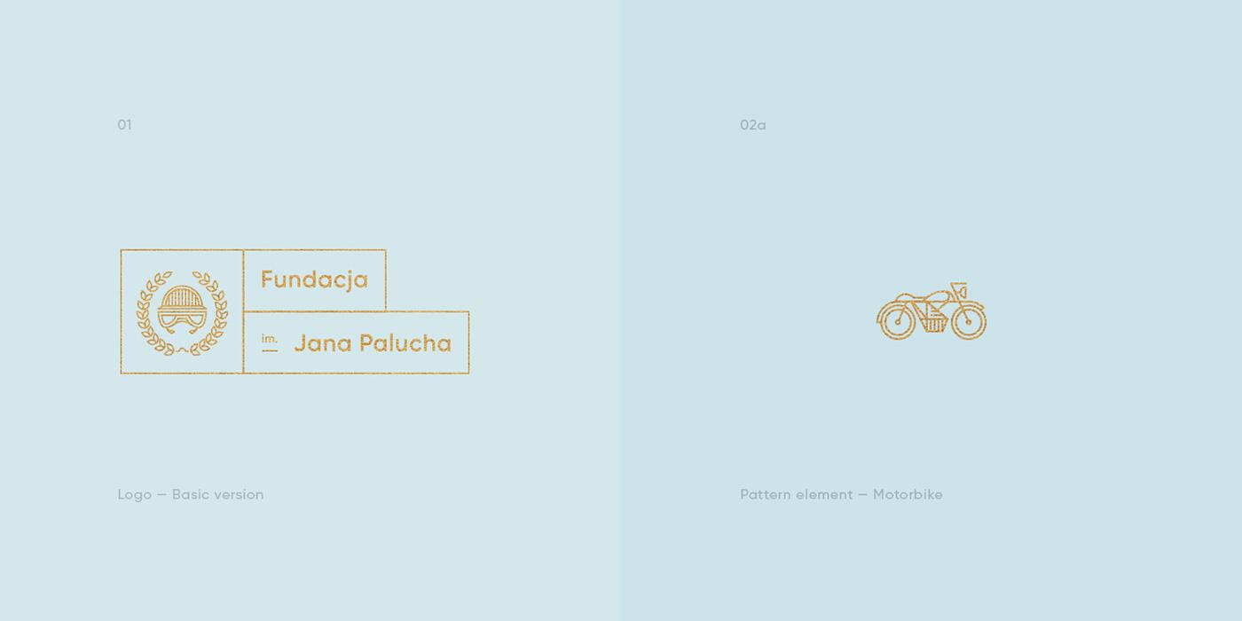 Motor sport Bike motorbike fundation gold logo outline monoline lion