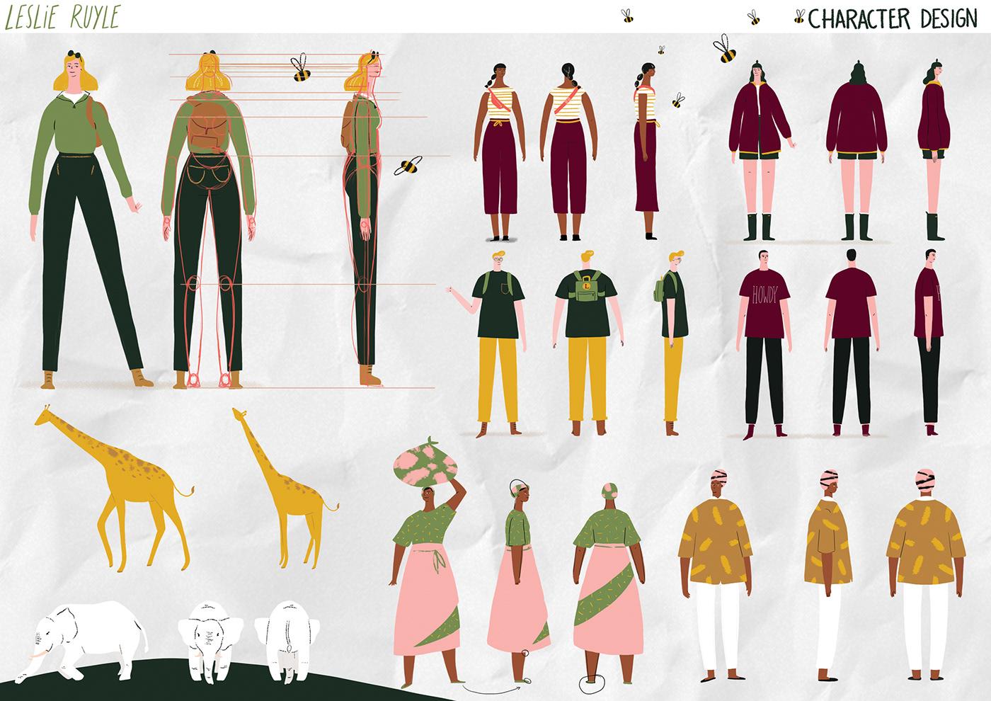 animation  motion graphics  ILLUSTRATION  Cel Animation Character design  short film narrative africa elephants example